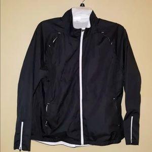 Danskin Now black and white windbreaker jacket